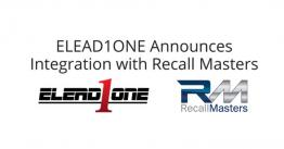 New ELEAD1ONE Partnership with Recall Masters, Inc.